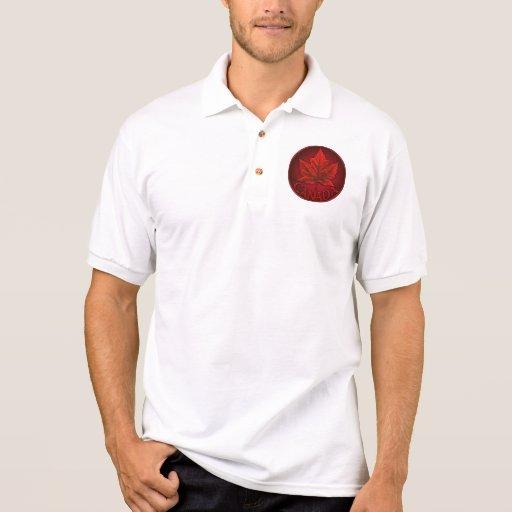 Camisa del golf de Canadá del polo del recuerdo de