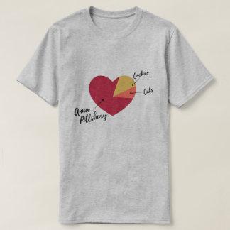 Camisa del gráfico de sectores del corazón de Ana