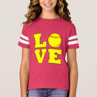 Camisa del jersey del amor de Fastpitch de los