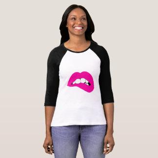 Camisa del jersey del mordedor del labio