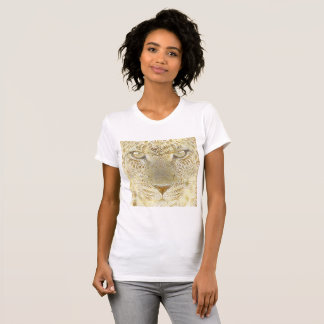 Camisa del leopardo del oro