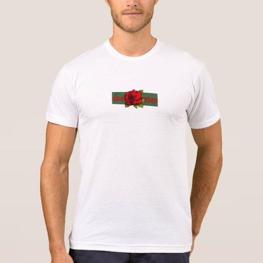 Camisa del logotipo de la caja del rosa blanco