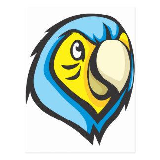 Camisa del loro - camisa azul linda de encargo del postal