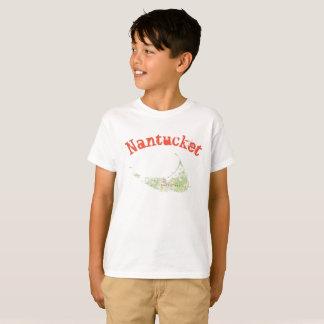 Camisa del mapa de Nantucket para los muchachos