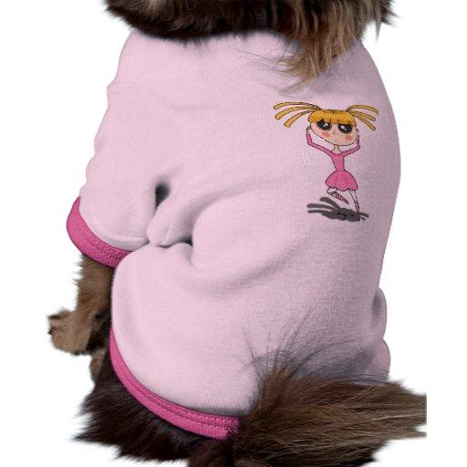 Camisa del mascota de la bailarina camisetas de perro