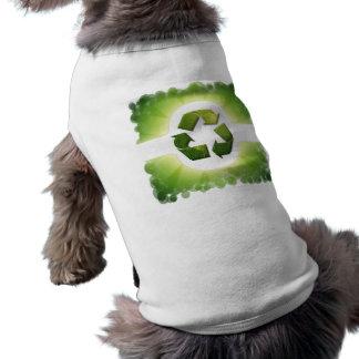 Camisa del mascota de los aspectos medioambientale camiseta sin mangas para perro