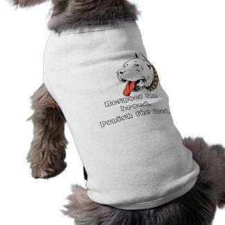 Camisa del mascota de Pitbull Camiseta Sin Mangas Para Perro