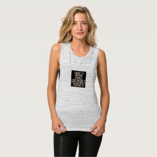 camisa del músculo de las mujeres