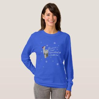 Camisa del navidad de la alpaca