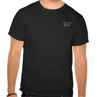 Camisa del negro del guardabosques del explorador