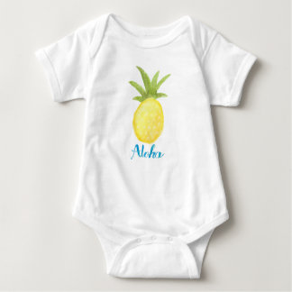 Camisa del niño de la acuarela de la piña de la