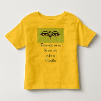 Camisa del niño de la cita de Buda