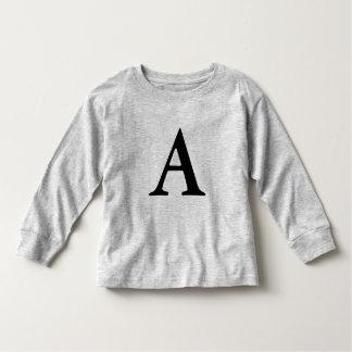 camisa del niño de la letra A del monograma