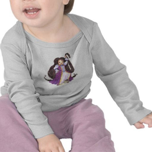 Camisa del niño de la princesa de Rapunzel del afr