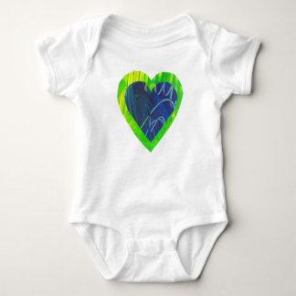 Camisa del niño del mono del bebé del amor del