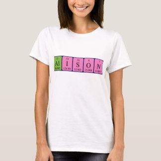 Camisa del nombre de la tabla periódica de Alison