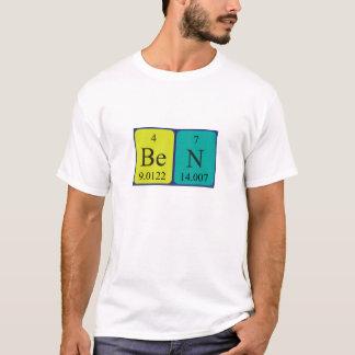 Camisa del nombre de la tabla periódica de Ben