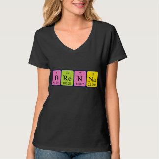 Camisa del nombre de la tabla periódica de Brenna