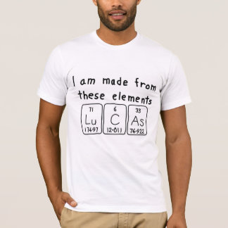 Camisa del nombre de la tabla periódica de Lucas