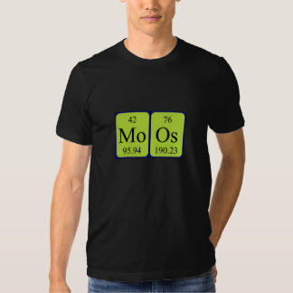 Camisa del nombre de la tabla periódica de Moos
