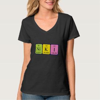 Camisa del nombre de la tabla periódica de Niki