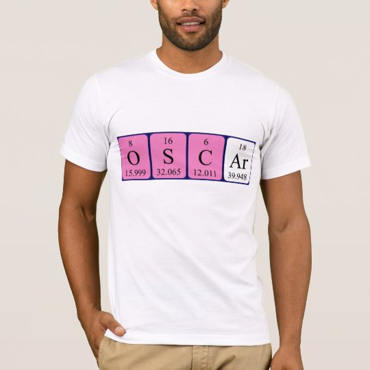 Camisa del nombre de la tabla periódica de Óscar