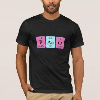 Camisa del nombre de la tabla periódica de Paco
