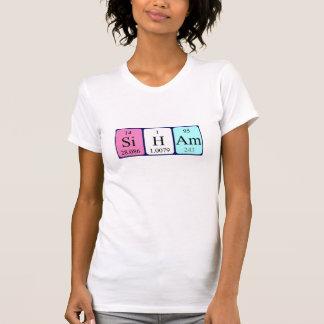 Camisa del nombre de la tabla periódica de Siham