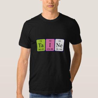Camisa del nombre de la tabla periódica de Taine
