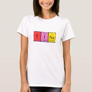 Camisa del nombre de la tabla periódica de Tina