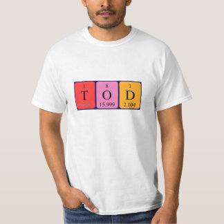 Camisa del nombre de la tabla periódica de Tod