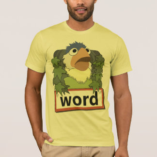 """""""Camisa del pájaro de la palabra"""" Camiseta"""