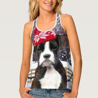 Camisa del perrito del boxeador del navidad