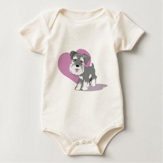 Camisa del perrito del Schnauzer miniatura del
