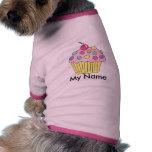 Camisa del perro de la magdalena personalizada ropa de mascota