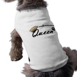 Camisa del perro de la verde lima de la reina de l