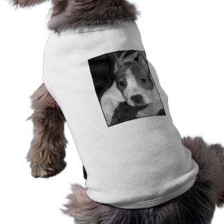 camisa del perro de perrito del pitbull camiseta sin mangas para perro