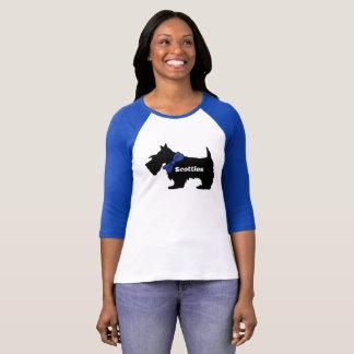 Camisa del perro del escocés de las mujeres