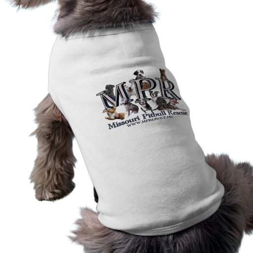 Camisa del perro del logotipo del MPR Camisa De Perro
