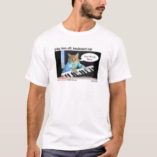Camisa del personalizable del gato del teclado
