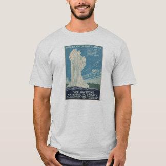 Camisa del poster del vintage del parque nacional
