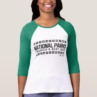 Camisa del raglán de las mujeres de los parques