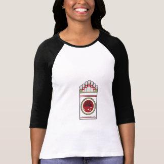 Camisa del raglán de los bolos de las huelgas afo