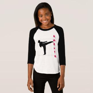 Camisa del raglán del chica del karate