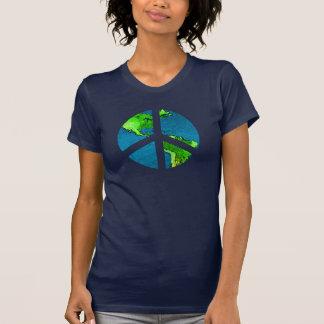 Camisa del signo de la paz del globo