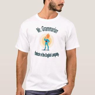 Camisa del super héroe de la gramática