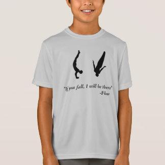 Camisa del trampolín de la gimnasia para hombre de