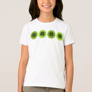 Camisa del trébol de la hoja de los niños cuatro