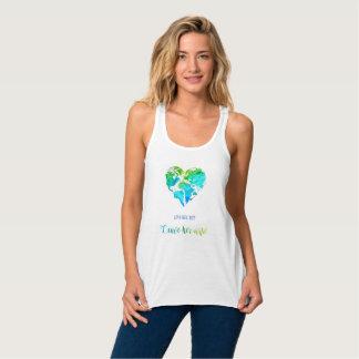 Camisa del viaje del mapa del mundo del corazón en