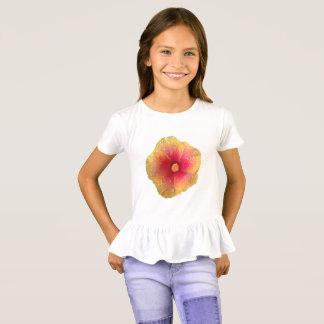 Camisa del volante de los chicas del hibisco